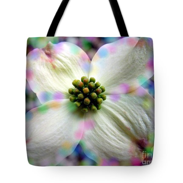 Cotton Candy Flower Tote Bag by Renee Trenholm