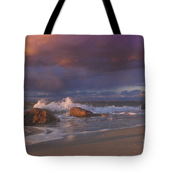 Tote Bag featuring the photograph Cotton Candy Sunset by Amazing Jules