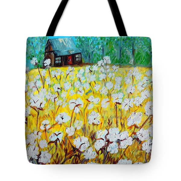 Cotton Fields Back Home Tote Bag