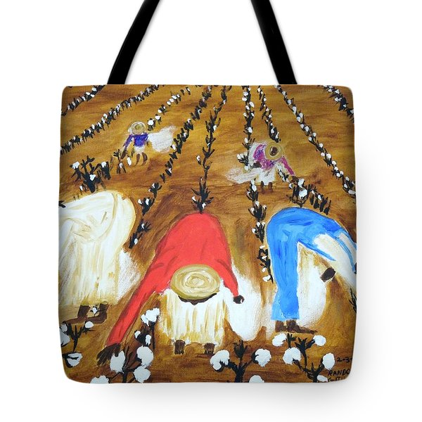 Cotton Picking People Tote Bag