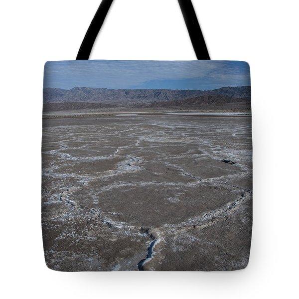 Cottonball Basin At Death Valley Tote Bag