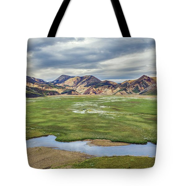 Cottongrass Field Landmannalaugar Tote Bag