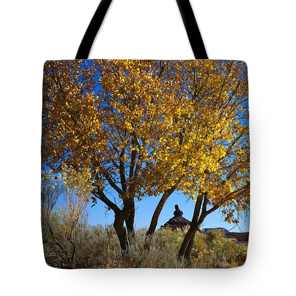 Cottonwood And Nipple Butte Tote Bag