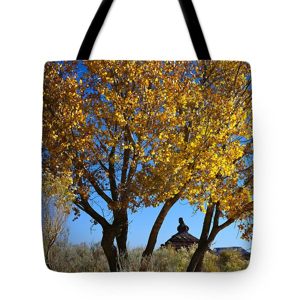 Cottonwood And Nipple Butte-v Tote Bag