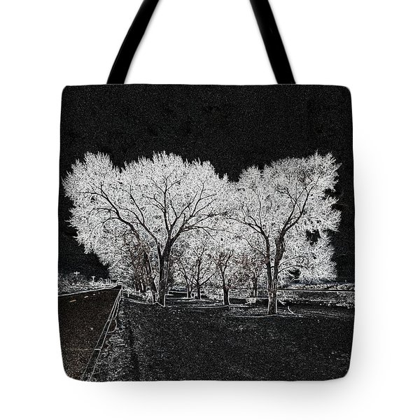 Tote Bag featuring the digital art Cottonwood Frost by Aliceann Carlton