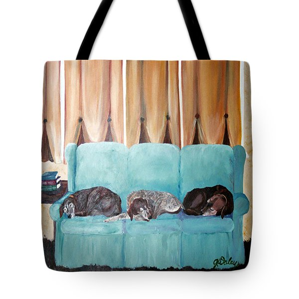 Couch Potatoes Tote Bag by Gail Daley