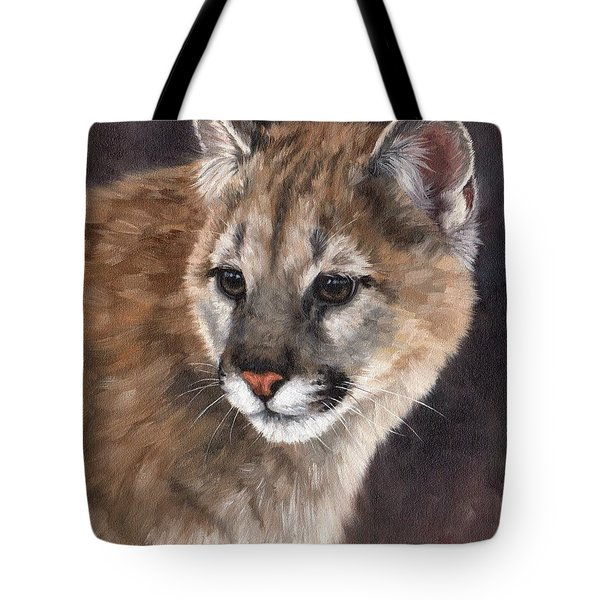 Cougar Cub Painting Tote Bag