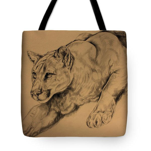Cougar Tote Bag by Derrick Higgins