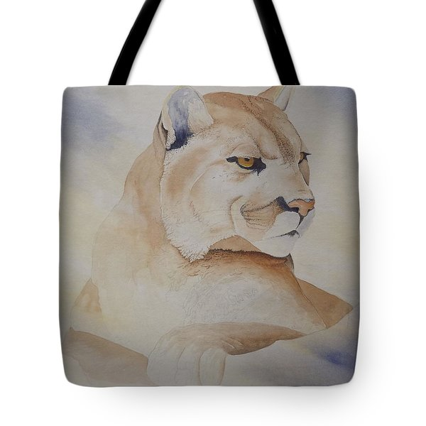 Cougar On Watch Tote Bag