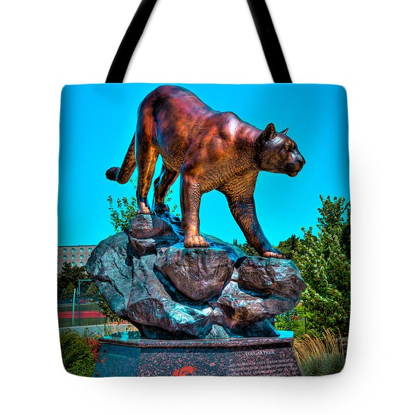 Cougar Pride Sculpture - Washington State University Tote Bag