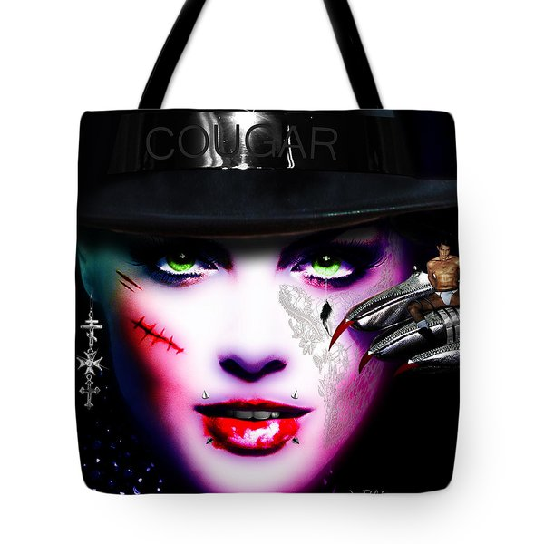 Cougar Rainbow Tote Bag