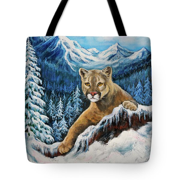 Cougar Sedona Red Rocks  Tote Bag