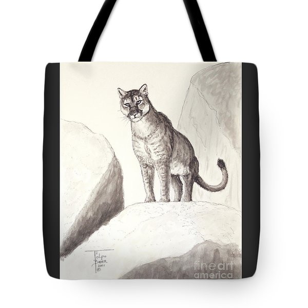 Cougar's Gaze Tote Bag