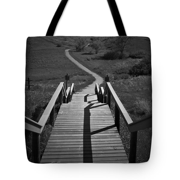 Coulee Stairs Tote Bag by Donald S Hall