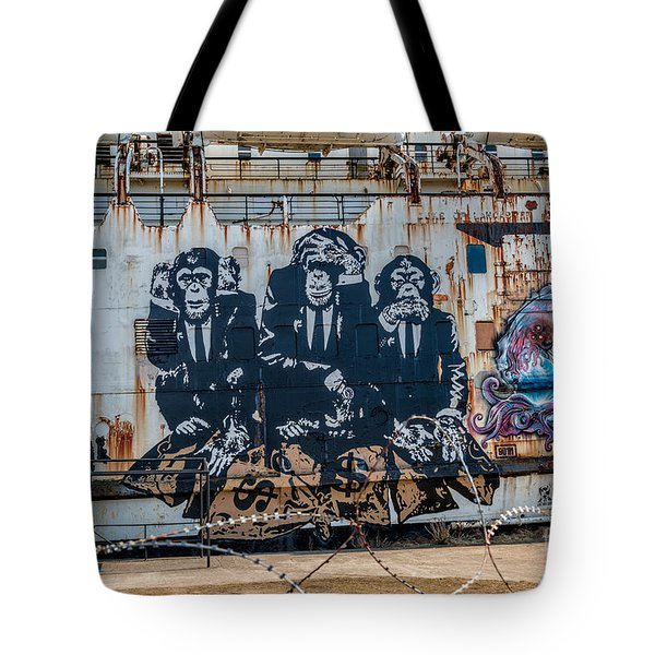 Tote Bag featuring the photograph Council Of Monkeys 2 by Adrian Evans