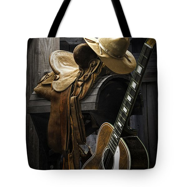 Country And Western Music Tote Bag