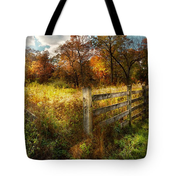 Country - Autumn Years  Tote Bag by Mike Savad