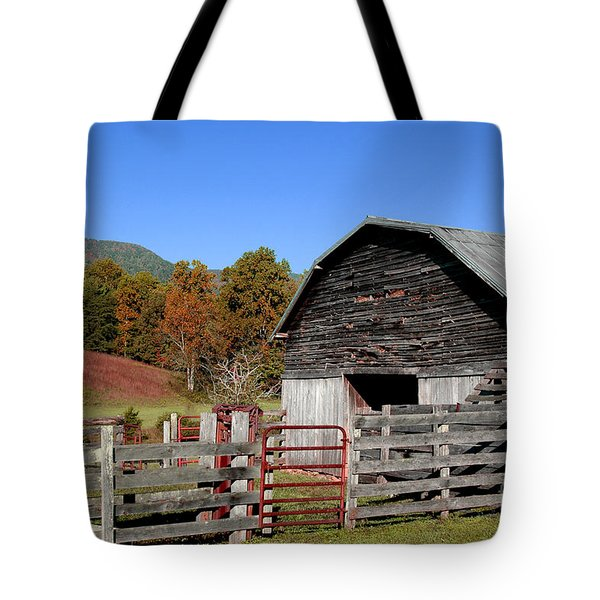 Country Barn Tote Bag by Jeff McJunkin
