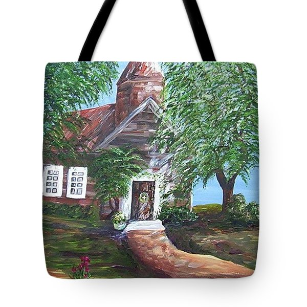 Tote Bag featuring the painting Country Church by Eloise Schneider