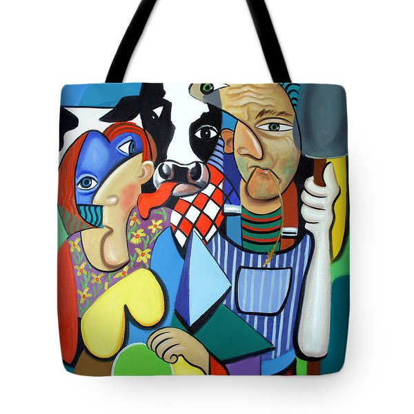 Country Cubism Tote Bag by Anthony Falbo