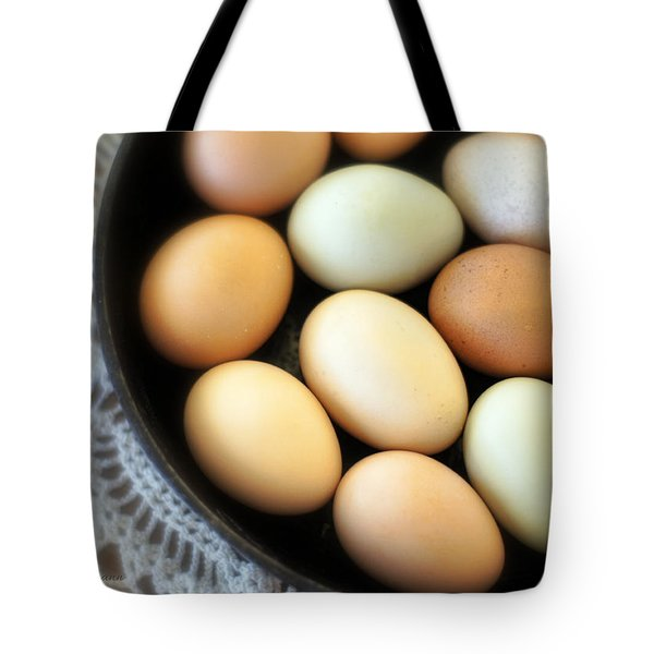 Country Egg Skillet Tote Bag
