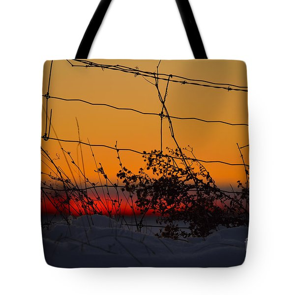 Country Fence Tote Bag
