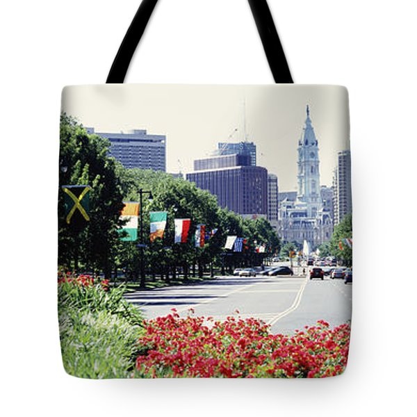Country Flags On Trees Along Martin Tote Bag