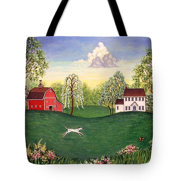 Country Frolic One Tote Bag by Linda Mears