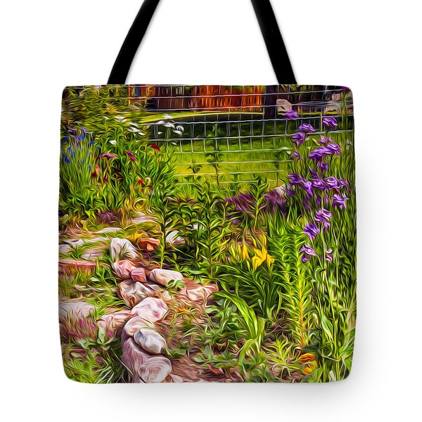 Country Garden Tote Bag by Omaste Witkowski