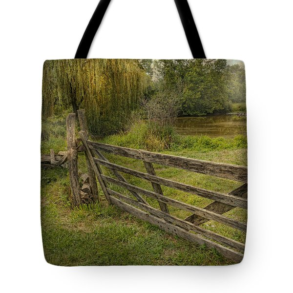 Country - Gate - Rural Simplicity  Tote Bag by Mike Savad