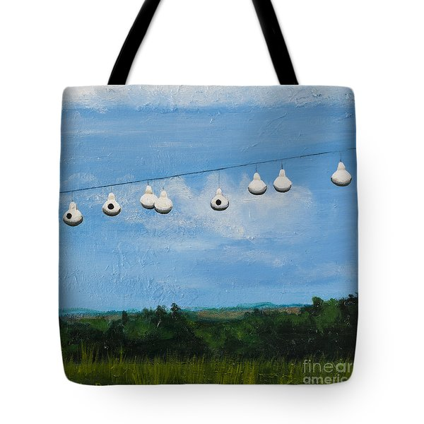 Country Home. Nice View. Tote Bag by Carla Dabney
