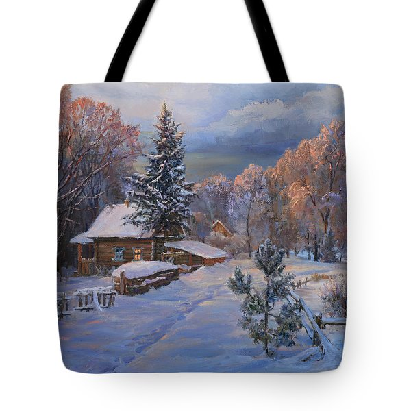 Country House In Winter Tote Bag