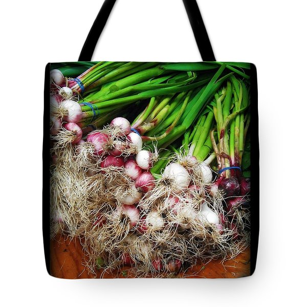 Country Kitchen - Onions Tote Bag by Miriam Danar