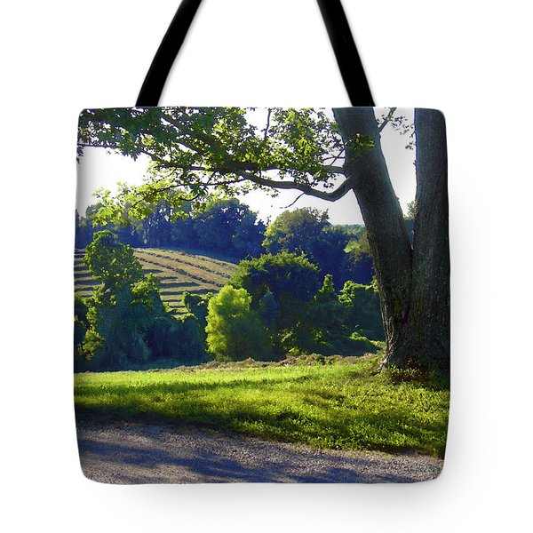 Country Landscape Tote Bag