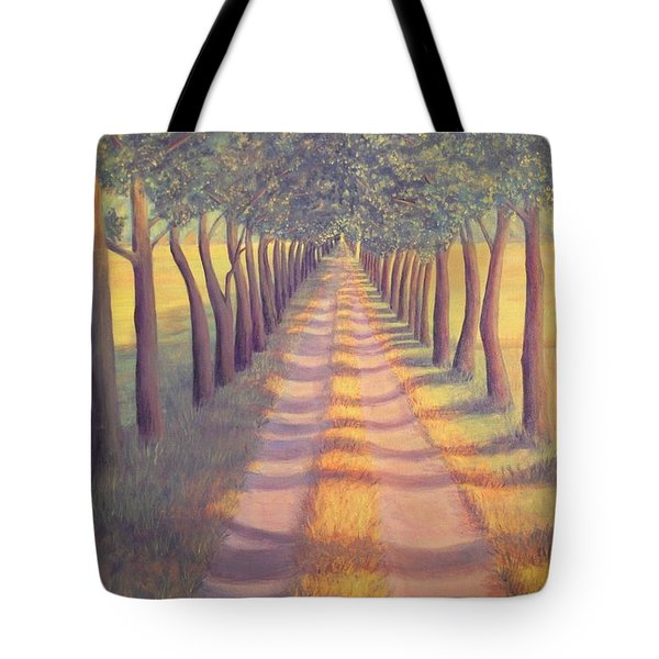 Tote Bag featuring the painting Country Lane by Sophia Schmierer