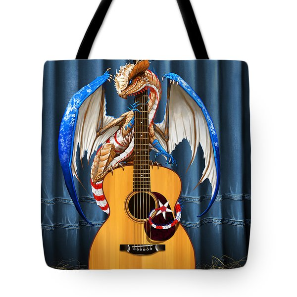 Country Music Dragon Tote Bag