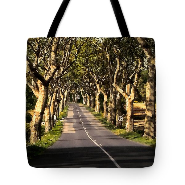 Tote Bag featuring the photograph Country Road In Southern France - Bram D4 by Menega Sabidussi