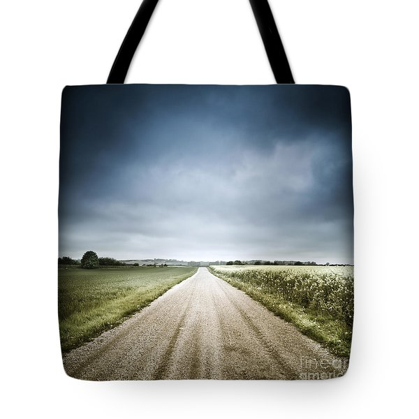 Country Road Through Fields, Denmark Tote Bag by Evgeny Kuklev