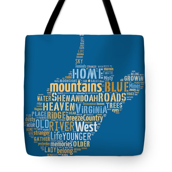 Country Roads 3 Tote Bag by Paulette B Wright