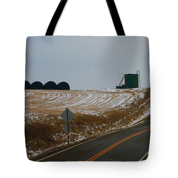 Country Roads In Holmes County Tote Bag