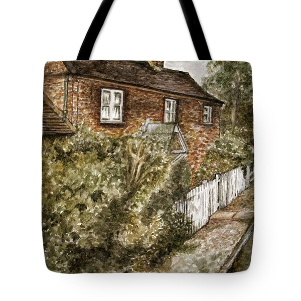 Old English Cottage Tote Bag