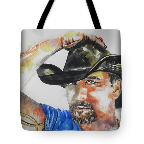 Country Singer Tim Mcgraw 02 Tote Bag by Chrisann Ellis