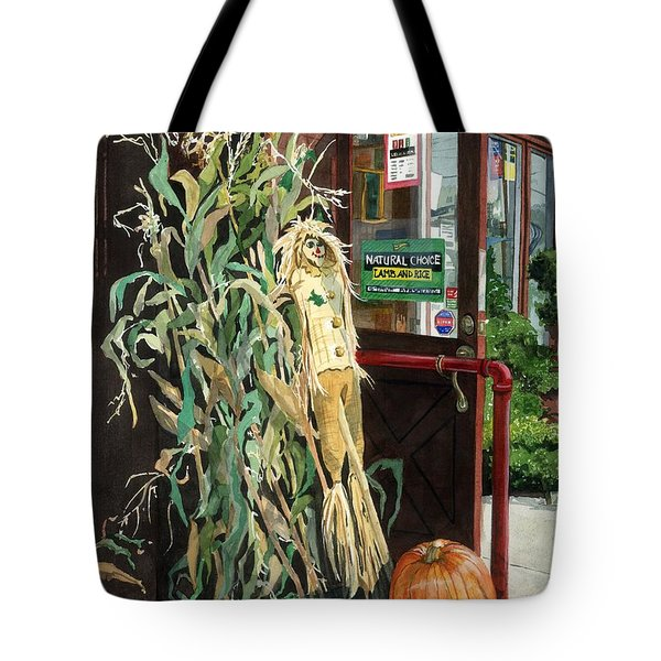 Tote Bag featuring the painting Country Store by Barbara Jewell