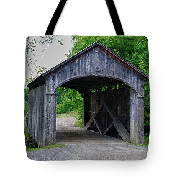 Country Store Bridge 5656 Tote Bag