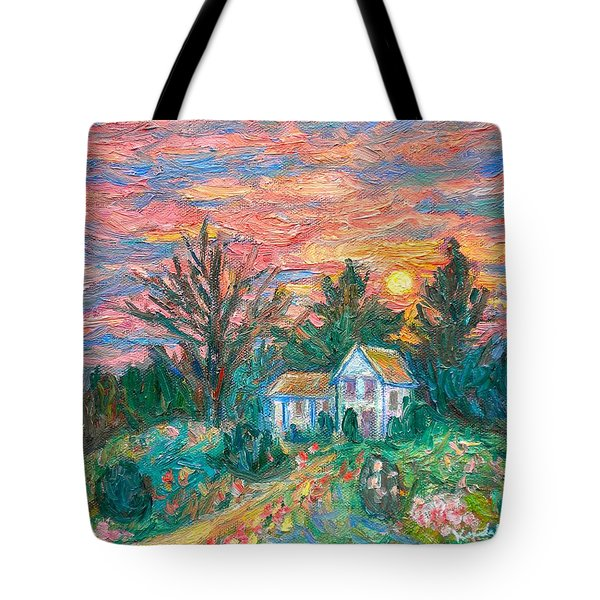 Country Sunset Tote Bag by Kendall Kessler