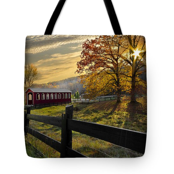 Country Times Tote Bag by Debra and Dave Vanderlaan