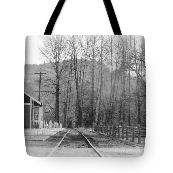 Tote Bag featuring the photograph Country Train Depot by Tikvah's Hope