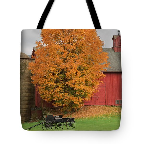 Country Wagon Tote Bag by Bill Wakeley