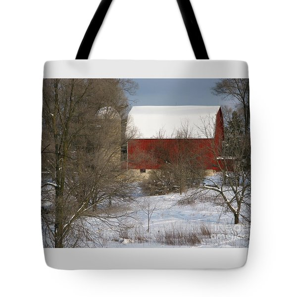 Tote Bag featuring the photograph Country Winter by Ann Horn