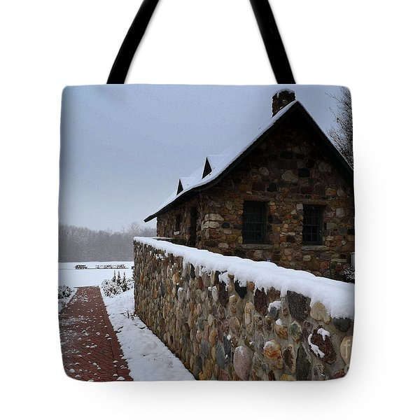 Country Winter Landscape  Tote Bag
